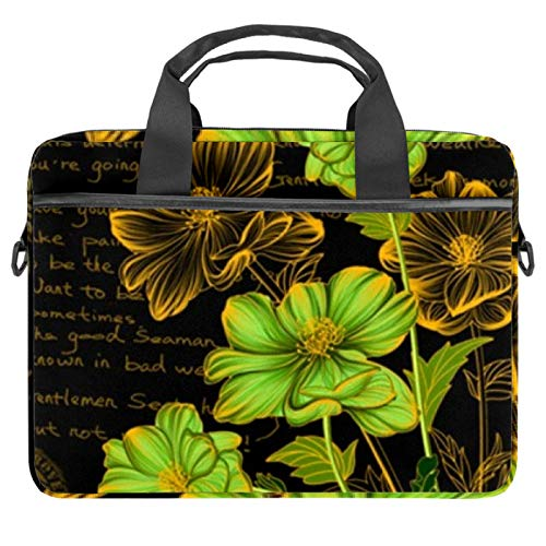 Laptop Bags, Cases and Sleeves for Business Commuting, Professional Travel and Laptop Protection for up to 13.4' - 14.5' Notebooks Flowers Stand Tall