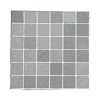 シール式モザイクタイルシート デコレ [フラン 1枚販売] プーアル 1枚サイズ:15cm×15cm Z3K