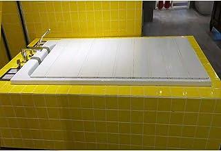 風呂ふた 折りたたみ風呂ふた 半身浴 軽量タイプ 防カビ加工 ホワイト エ産業 風呂ふた (Size : 65×103cm)