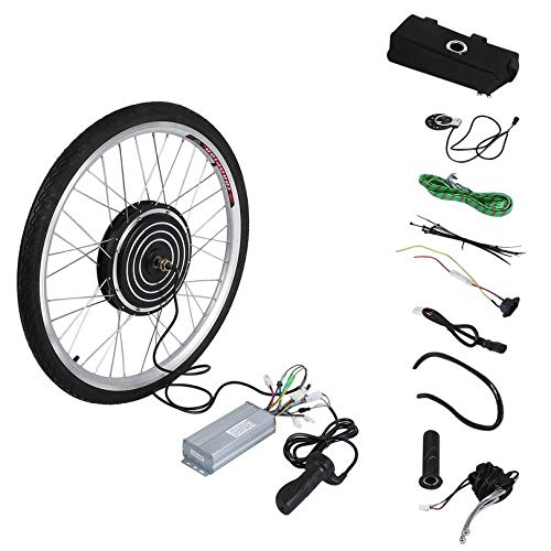 ZicHEXING 48V 1000W High Power Electric Bicycles E-Bike 26inch Front Wheel Conversion Kit Cycling Motor Set Best Replacement