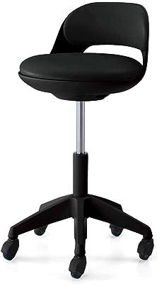 【配送・組立・設置込】 コクヨ オフィスチェア ココット サポートシェルタイプ フローリング用 ステップなし ブラックシェル レザー/ブラック