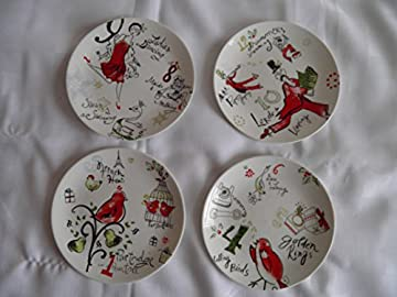 arty contemporary christmas dessert plates