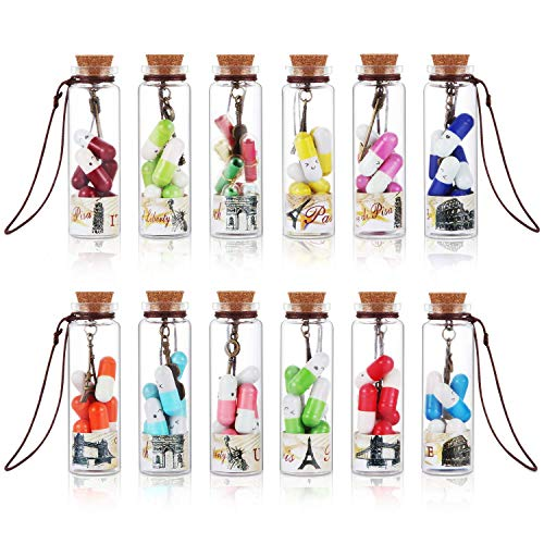 12 Bottles Lovers Gift Capsule Letters, Your Private Conversation Message in a Bottle, Ideal Gift...
