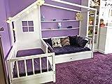 Little Village Montessori - Cama Doble, diseño de casa de Nook, Blanco, 80x160