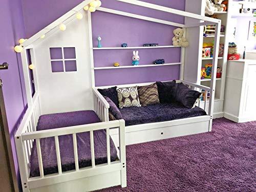 Little Village Nook Doppelbett Montessori, weiß, 80x160