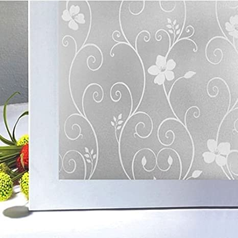 KQ/_ 1 Roll Frosted Glass Film Static Cling Office Bathroom Home Window Priva HK