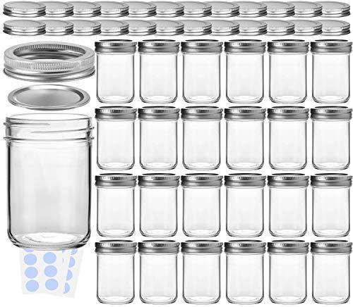 KAMOTA Mason Jars, 8 oz Glass