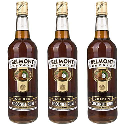 Belmont Estate Sangsters Gold Coconut Rum (3 x 1,0l)