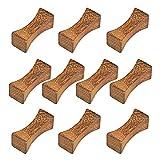 Marrón palillos soporte Porta para cuchillos cuchara palillos soporte Palillos Descansa Soporte de palillos chinos para Juego de Cubiertos Asiáticos de Mesa, Accesorios para Restaurantes 10 pcs