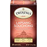 Twinings of London Lapsang Souchong Black Tea Bags, 20 Count (Pack of 6)