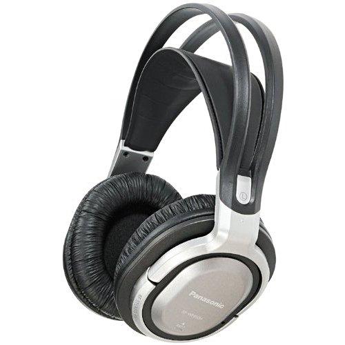 Panasonic RP-WF950E-S Funk-Kopfhörer mit Ladestation (Surround Sound, Auto Tuning, 100 m Reichweite) silber