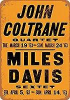 なまけ者雑貨屋 アメリカン 雑貨 ナンバープレート John Coltrane & Miles Davis in LA ヴィンテージ風 ライセンスプレート メタルプレート ブリキ 看板 アンティーク レトロ