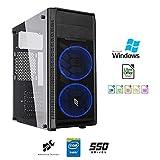 Pc desktop assemblato intel quadcore 2 Ghz,Ram 8gb,Ssd 480 Gb,Lettore masterizzatore,Windows...