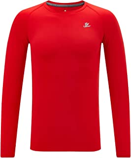 Sponsored Ad - DEVOROPA Youth Boys Compression Thermal Shirt Long Sleeve Fleece Baselayer Soccer Baseball Undershirt