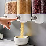 Wall Mounted Rice Storage Tank, Dry Food Dispenser, Whole Grains Rice Bucket Wall-Mounted Rice Storage Tank, Kitchen Food Storage, Single Dry Food Snack Grain Canister Food Storage Organizer(31000ML)