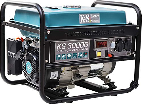 K&S | Könner&Söhnen | Gas und Benzin | 3 KW Stromaggregat | Generator | KS3000G | Dual Fuel | Stromerzeuger