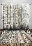 NIVIUS PHOTO 150 * 300cm Studiofotografie Hintergrund Weihnachten Holz Hintergrund Studio Neugeborene Kulissen Schein Schnee Kulisse D-2389