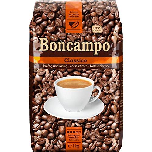 Boncampo Classico Ganze Kaffeebohnen 1kg, Stärkegad 3/5