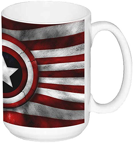 Capitan America Captain America US Army Star Taza Grande Ceramica 15 oz ≈ 443 ml