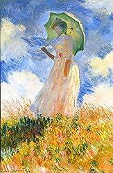 モネ,日傘の女,1886年