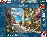 Schmidt Spiele- Thomas Kinkade - Puzzle (1000 Piezas), diseño de café en la riña Italiana, Color carbón (59624)