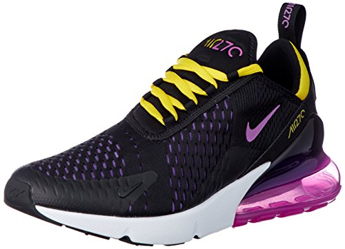 Price comparison product image Nike Air Max 270 AH8050-006 Black / Hyper Grape / Yellow / Magenta Men's Shoes (10.5)