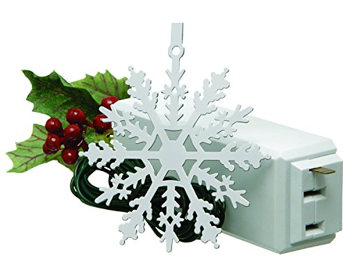 Xodus Innovations 1225LS Snowflake On/Off Touch Control Ornament For Christmas Tree Lights, White