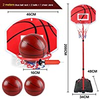 耐久の鉄鉄のフープリフティングバスケットボールフープ - ホーム屋内屋外ポータブルシューティングバスケットボールスタンド (Color : 2 meters high)