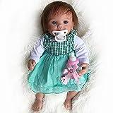 Wamdoll Cute Little Alice Truly 15 Inches Lifelike Newborn Baby Dolls Blue Eyes Girl Babies