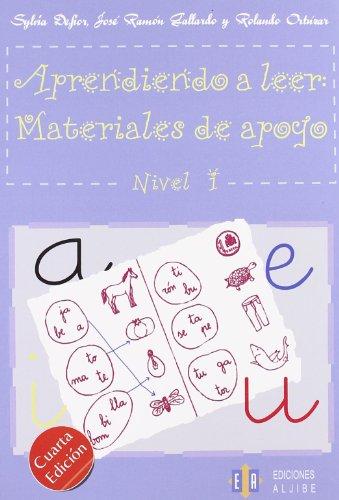 Aprendiendo A Leer. Materiales De Apoyo Nivel I: 1 (Cuadernos De Refuerzo Y Apoyo) - 9788497001977 (CUADERNOS REFUERZO APOYO)