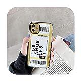 Nueva York Los Angeles Paris Tokyo City - Etiqueta de código de barras para iPhone X XS Max 11 Pro XR 7 8 Plus