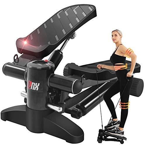 【2021強化版 全2カラー】ステッパー LNX 有酸素 運動 フィットネス ダイエット 器具 すてっぱー ひねり運動 踏み台昇降 静音 ステップ台 健康エクササイズ器具 ステップ 運動 足踏み 3D 健康ステッパー (ブラック)