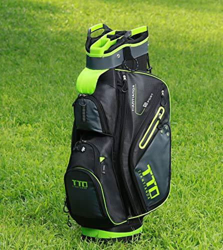 10-Pocket Golf Cart Bag, Green