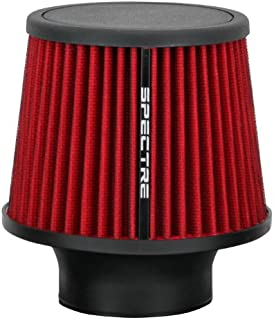Spectre Performance 9132 Universal Clamp-On Air Filter: Round Tapered; 3 in (76 mm) Flange ID; 6.5 in (165 mm) Height; 6 in (152 mm) Base; 4.75 in (121 mm) Top