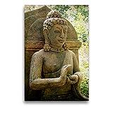CALVENDO Premium Textil-Leinwand 50 cm x 75 cm hoch, EIN Motiv aus dem Kalender Buddha Statuen/CH-Version | Wandbild, Bild auf Keilrahmen, Fertigbild auf echter Leinwand, Leinwanddruck Glaube Glaube