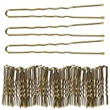 300 Bun Hair Bobby Pins U Shaped Pin with Box Hair Grips to Clip Ballet Hair Net for Women 6 CM/2.3 inch Golden