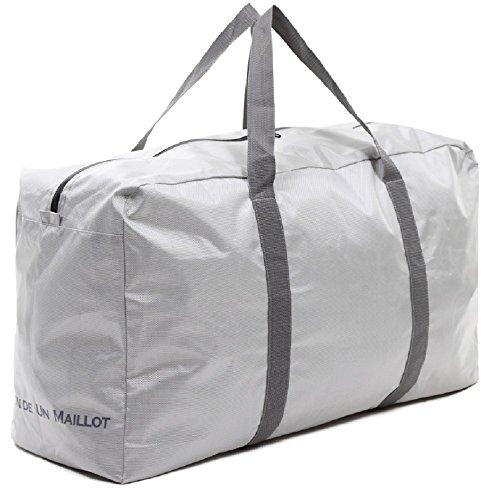 MAISON DE UN MAILLOT 大きい バッグ 折りたたみ 防水 大型収納 100L 大容量 ボストンバッグ (シルバーグレー)