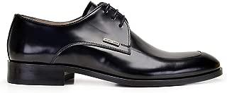 6632-530 NEV312-Spaz Siyah 301 Nevzat Onay Bağcıklı Siyah Deri Erkek Ayakkabı