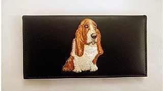 basset hound checkbook cover