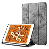 Robustrion Marble Series Trifold Flip Stand Case Cover with Pencil Holder for iPad