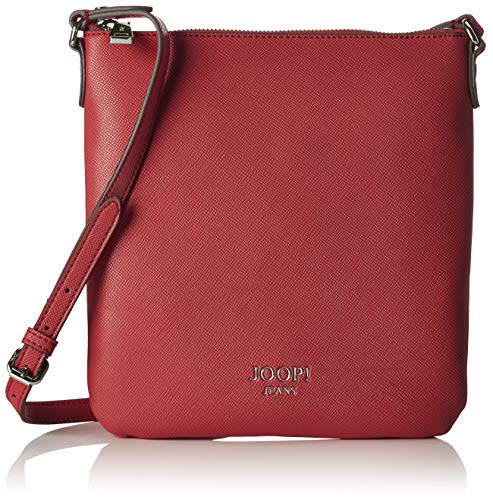 Joop! Damen Saffiano Jeans Dia Shoulderbag Mvz Schultertasche, Rot (Red), 3x26x24 cm