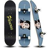 PHOEROS Skateboards-Complete Skateboard for Beginners Teens Kids Boys Girls-31''x8'' Skate Board with Canadian Maple Cruiser Pro Skateboards, Long Boards Skateboard.