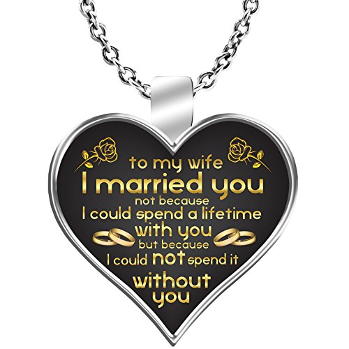 BeeTeeStore Wife Necklace - to My Wife I Could Not Spend A Lifetime Without You Wife Gift Ideas