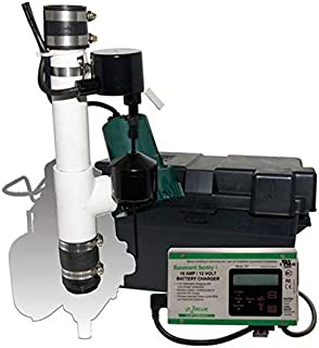 Zoeller 152962, 12V DC Backup Pump Only with 6 ft Leads for Aquanot 508 Systems, 39 GPM Max, 22 ft Max Head, Automatic