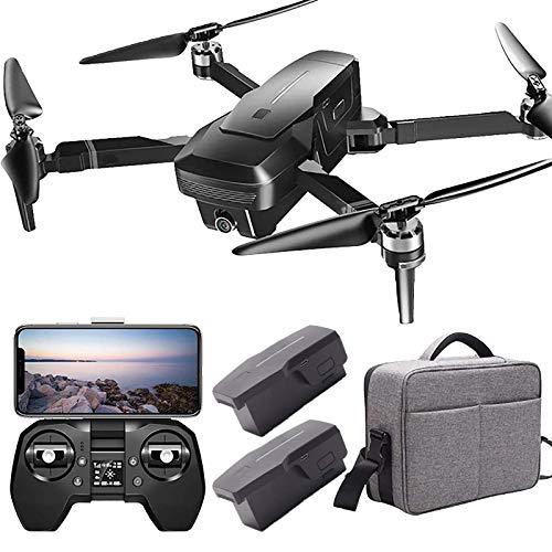 Drone con telecamera Drone con telecamera 4k per adulti con visione notturna 5G Wifi HD Live Video Rc Quadcopter con ritorno automatico GPS Follow Me Portable Drone (2 batterie di ricambio + custodia