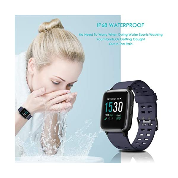 HOMVILLA Pulsera Actividad, Fitness Tracker, Reloj Inteligente Impermeable IP68 con Pulsómetro Monitor de sueño Pulsera… 8