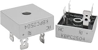 Twidec /2Pcs 25A 400V AC to DC Full Wave Single Phase Metal Housing Electronic Bridge Rectifier Diode KBPC-2504