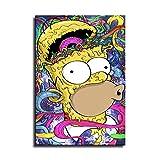 YuHui Homer Simpson Leinwand-Poster und Wand-Kunstdruck,