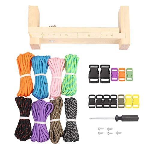 Fltaheroo Fabricante de pulseras con cuerda de paracaídas, fabricante de pulseras, 8 cuerdas de paracaídas y 8 hebillas de liberación rápida, kit de herramientas para manualidades