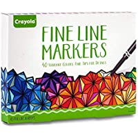40-Count Crayola Fine Line Markers Adult Coloring Set